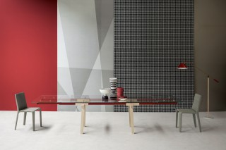 the Tracks Table is all about movement and assuming the fact that this is an extendable table .