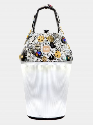 the lamp customized by fashion designer Jean-Paul Lespagnard