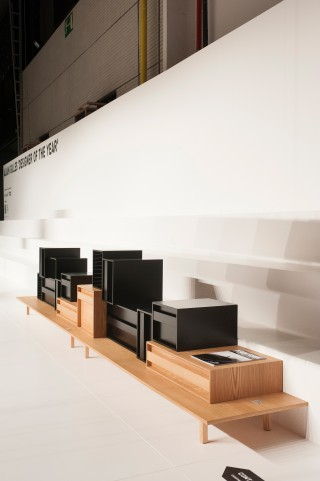 "as presented on the ""designer of the year"" stand at Interieur Kortrijk."
