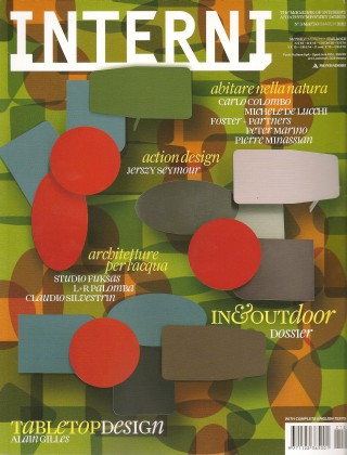 on the cover of Interni magazine.