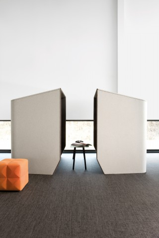 an instant meeting room, a micro-architecture. Image courtesy of studio BOA for 2TEC2