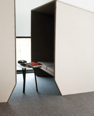 an instant meeting room. Image courtesy of studio BOA for 2TEC2.