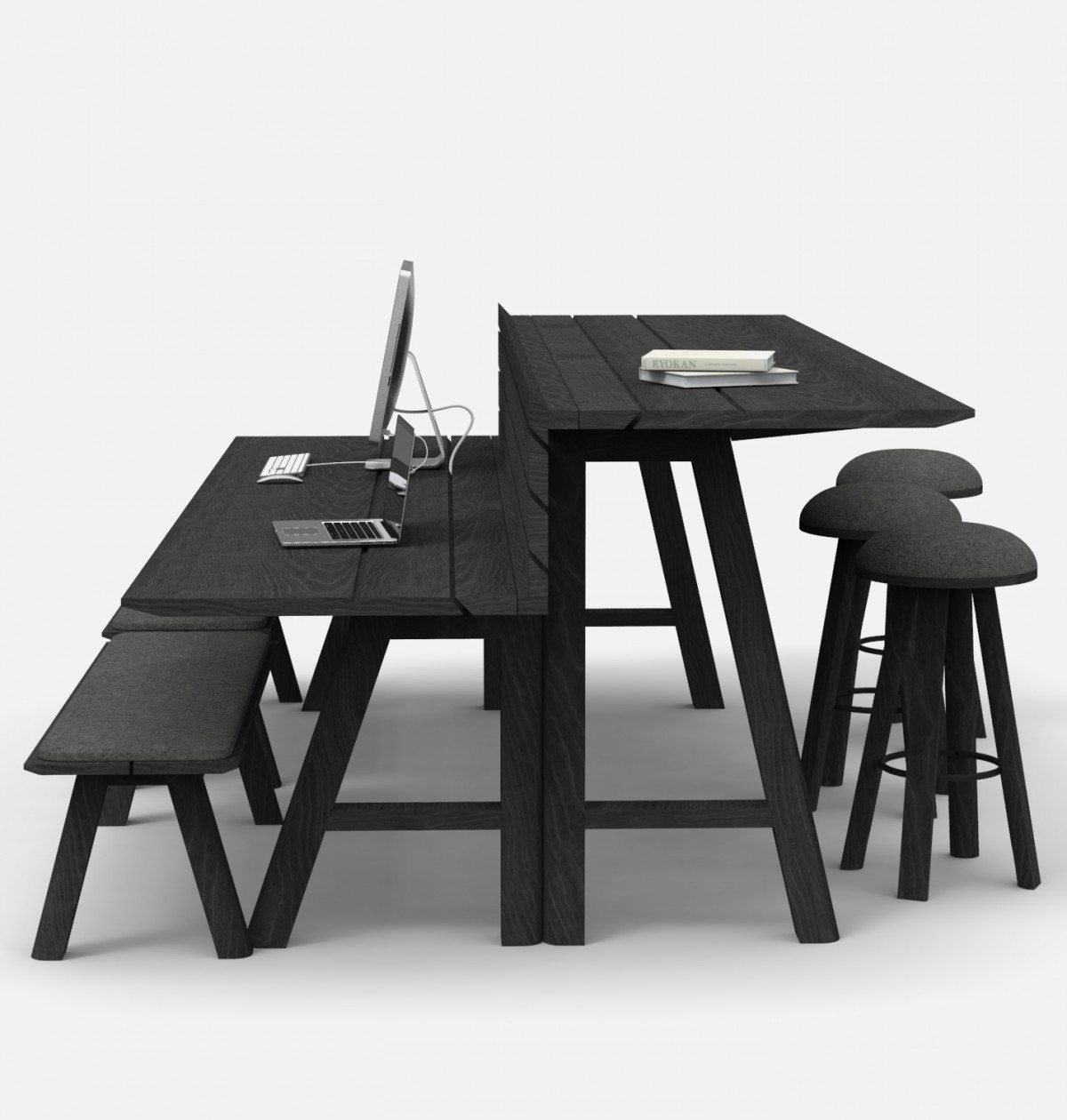 The U201cSplit Levelu201d Version Of The BuzziPicnic Table Enables People To Work On